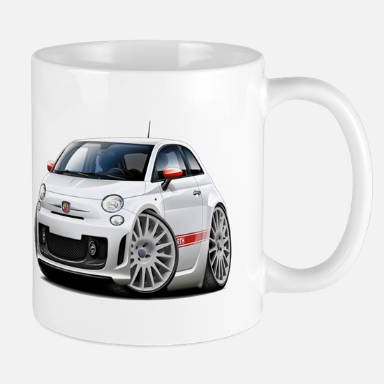 Abarth White Car Mug