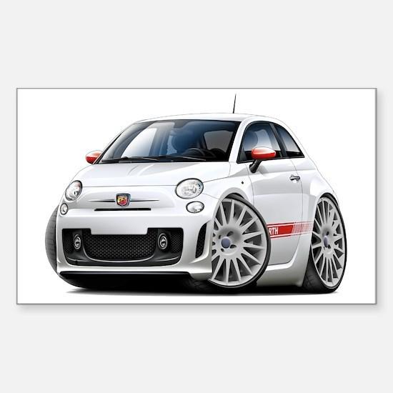 Abarth White Car Sticker (Rectangle)