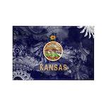 Kansas Flag Rectangle Magnet (100 pack)