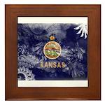 Kansas Flag Framed Tile