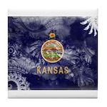 Kansas Flag Tile Coaster