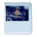 Kansas Flag baby blanket