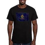 Kansas Flag Men's Fitted T-Shirt (dark)