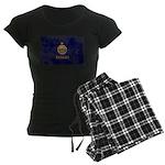 Kansas Flag Women's Dark Pajamas