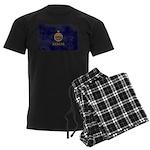 Kansas Flag Men's Dark Pajamas