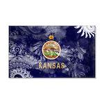 Kansas Flag 22x14 Wall Peel