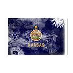 Kansas Flag Car Magnet 20 x 12