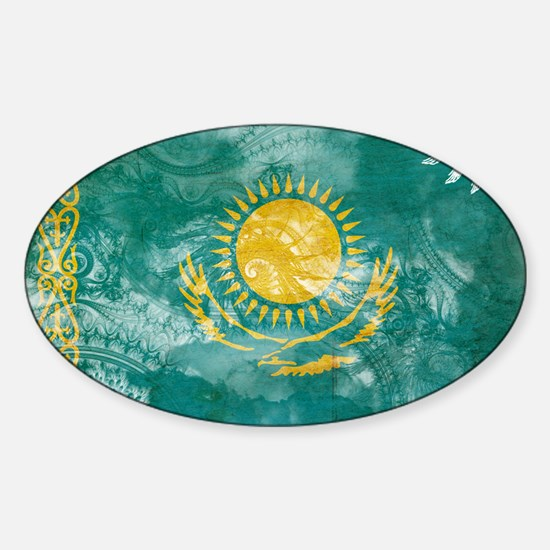 Kazakhstan Flag Sticker (Oval)