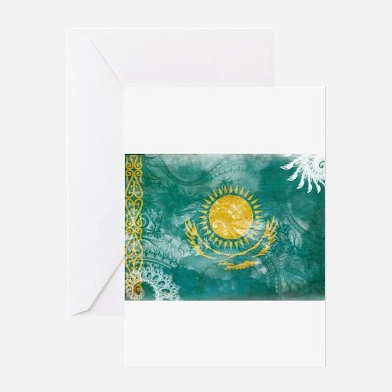 Kazakhstan Flag Greeting Card