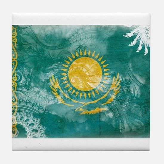 Kazakhstan Flag Tile Coaster