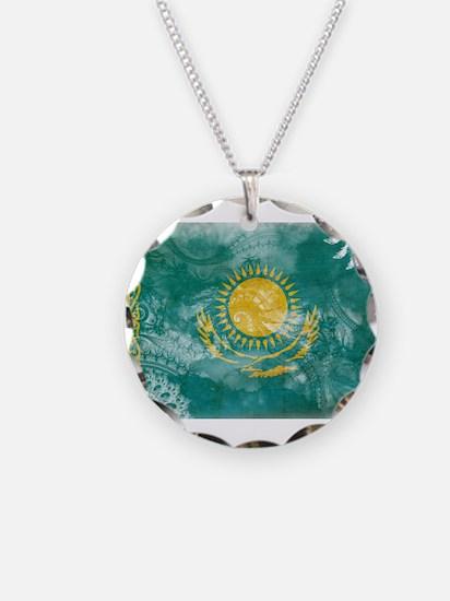 Kazakhstan Flag Necklace