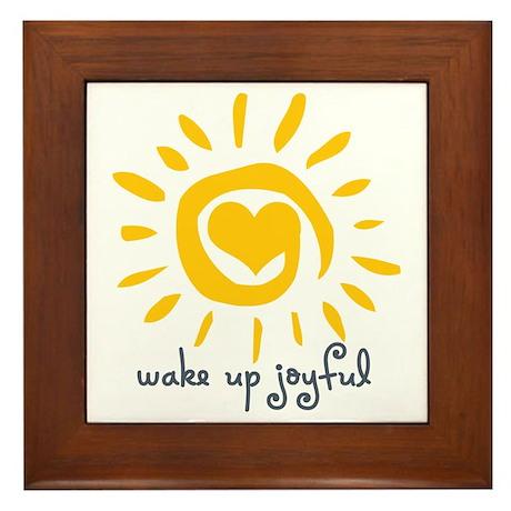 Wake Up Joyful Framed Tile