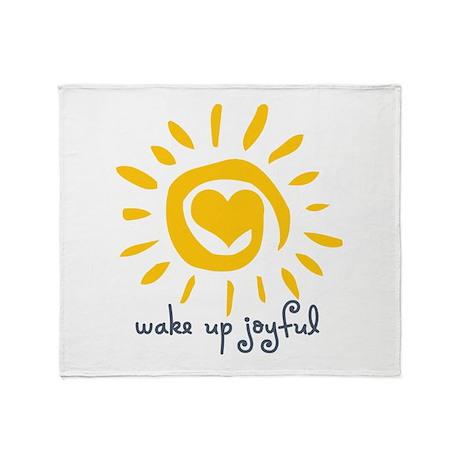 Wake Up Joyful Throw Blanket
