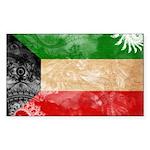 Kuwait Flag Sticker (Rectangle 50 pk)