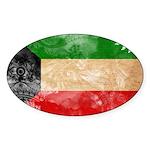 Kuwait Flag Sticker (Oval 10 pk)