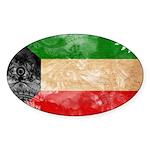 Kuwait Flag Sticker (Oval)