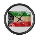 Kuwait Flag Large Wall Clock
