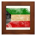 Kuwait Flag Framed Tile