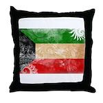 Kuwait Flag Throw Pillow