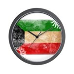 Kuwait Flag Wall Clock
