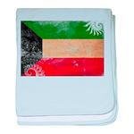Kuwait Flag baby blanket