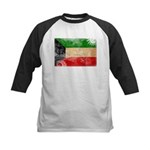 Kuwait Flag Kids Baseball Jersey
