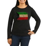 Kuwait Flag Women's Long Sleeve Dark T-Shirt