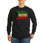 Kuwait Flag Long Sleeve Dark T-Shirt