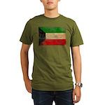 Kuwait Flag Organic Men's T-Shirt (dark)