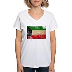 Kuwait Flag Women's V-Neck T-Shirt
