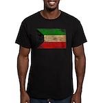 Kuwait Flag Men's Fitted T-Shirt (dark)