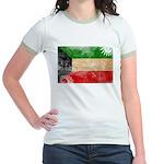 Kuwait Flag Jr. Ringer T-Shirt