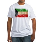 Kuwait Flag Fitted T-Shirt