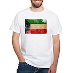 Kuwait Flag White T-Shirt