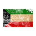 Kuwait Flag 38.5 x 24.5 Wall Peel