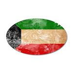 Kuwait Flag 38.5 x 24.5 Oval Wall Peel