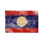 Laos Flag Rectangle Magnet (10 pack)