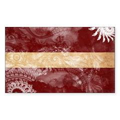 Latvia Flag Sticker (Rectangle)