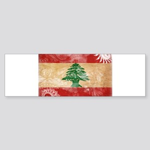 Lebanon Flag Sticker (Bumper)