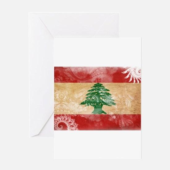 Lebanon Flag Greeting Card