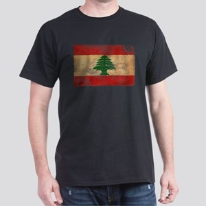 Lebanon Flag Dark T-Shirt