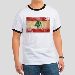 Lebanon Flag Ringer T