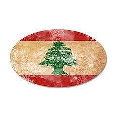 Lebanon Flag 22x14 Oval Wall Peel