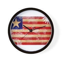 Liberia Flag Wall Clock