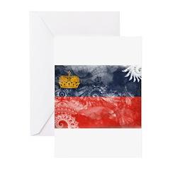 Liechtenstein Flag Greeting Cards (Pk of 20)