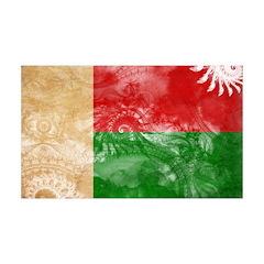Madagascar Flag 38.5 x 24.5 Wall Peel