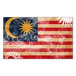 Malaysia Flag Sticker (Rectangle 10 pk)