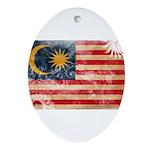 Malaysia Flag Ornament (Oval)