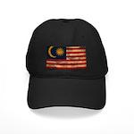Malaysia Flag Black Cap