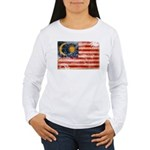 Malaysia Flag Women's Long Sleeve T-Shirt